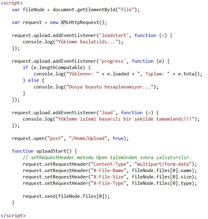 Upload Javascript Kodu