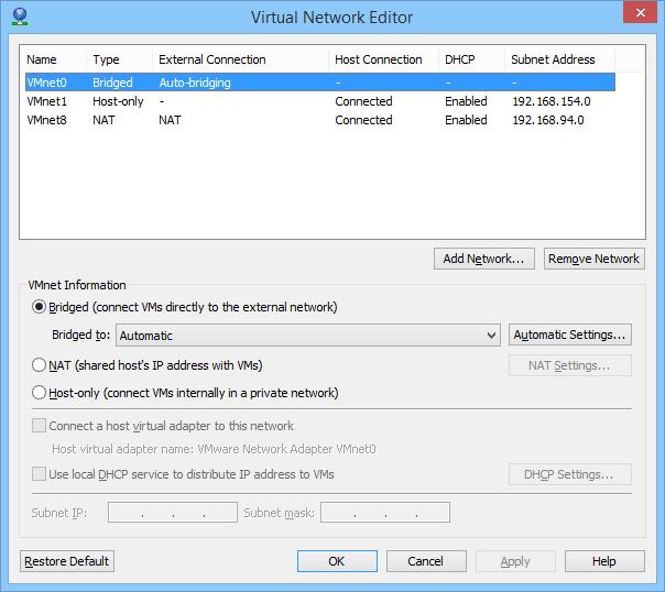 Virtual Network Editor